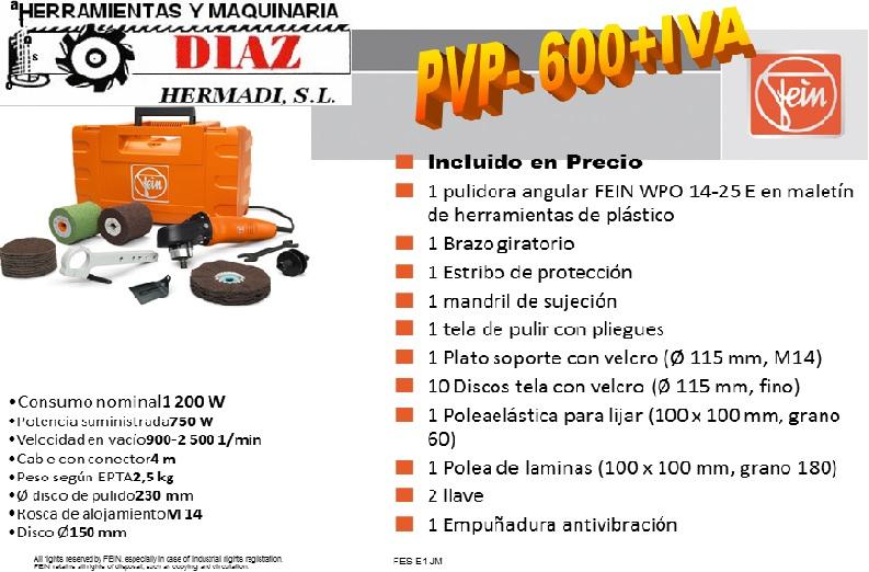Pulidora angular FEIN WPO 14-25 E