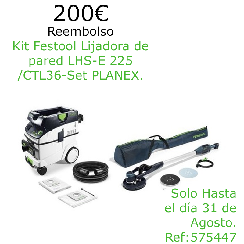 Festool Lijadora de pared LHS-E 225/CTL36-Set PLANEX 575447