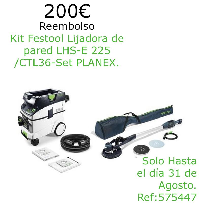 Festool Lijadora de pared LHS-E 225/CTL36-Set PLANEX 575447